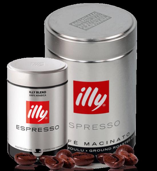 Illy Espresso Röstung S schwarz 250g gemahlen