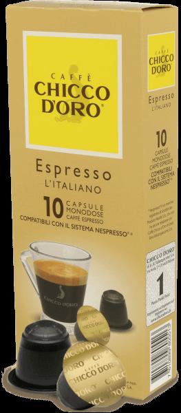 Chicco dOro Espresso Italiano - 10 Kapseln Nespresso® kompatibel