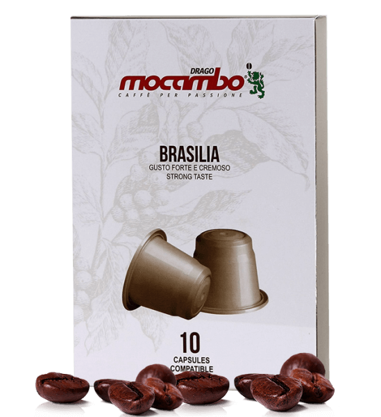 Mocambo Brasilia Kapseln - Nespresso® kompatibel - 10 Kapseln
