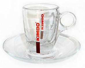 Kimbo Espresso Tasse aus Glas