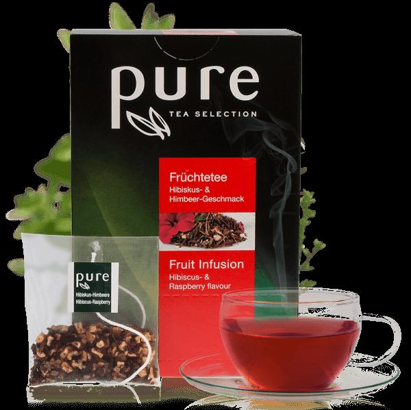 Pure Tee Selection Früchtetee Hibiskus & Himbeer - Geschmack 1 VE-25 Beutel