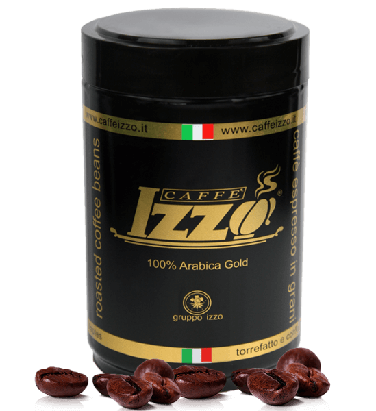 Izzo Gold Arabica Caffe-Espresso 250g Bohne-Dose
